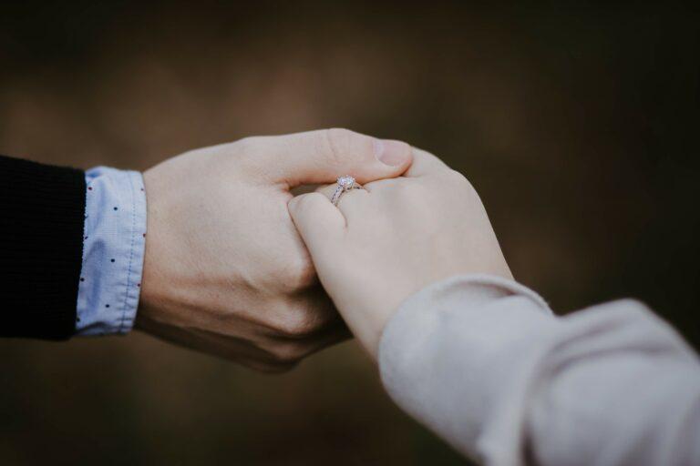 Verlobungsring Nahaufnahme
